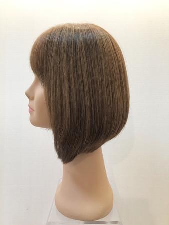 human hair wig with bangs